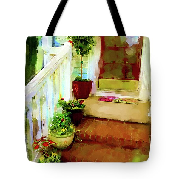 Tote Bag featuring the digital art Spring Welcome by Gina Harrison