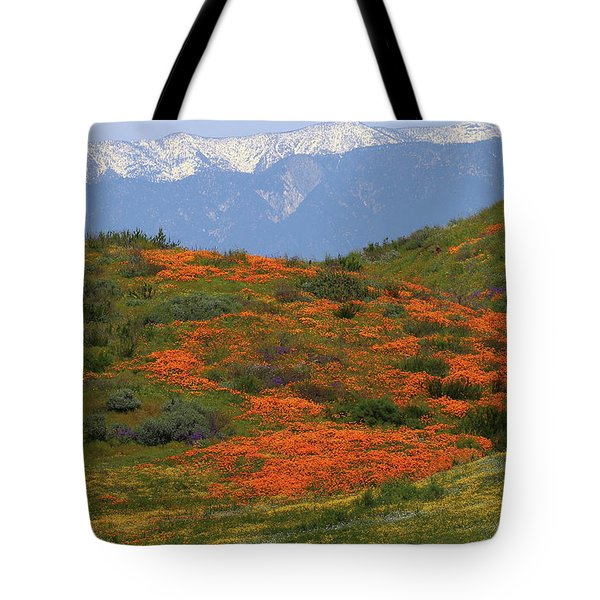 Tote Bag featuring the photograph Spring Wildflower Display At Diamond Lake In California by Jetson Nguyen