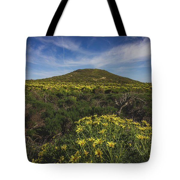 Spring Wildflowers Blooming In Malibu Tote Bag