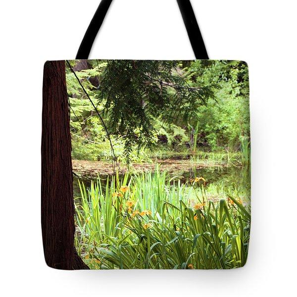 Spring Woodland Tote Bag by Victoria Harrington