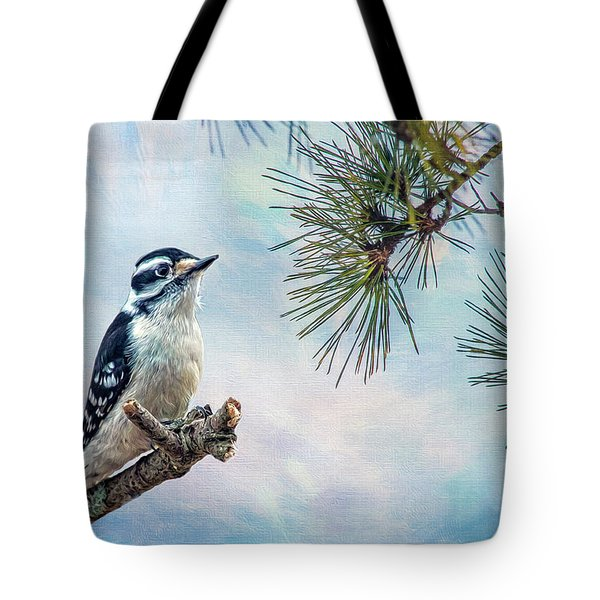 Spring Woodpecker Tote Bag
