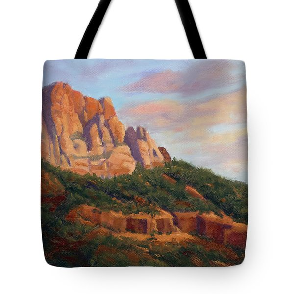 Springdale Sunset On Johnson Mountain Tote Bag
