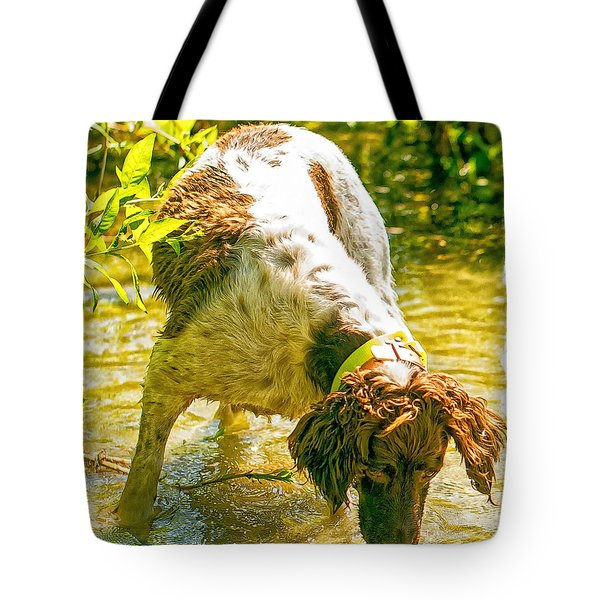 Tote Bag featuring the photograph Springer Spaniel Field by Constantine Gregory