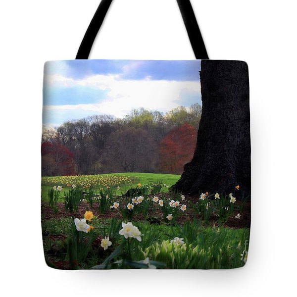 Tote Bag featuring the photograph Springing Forward At Edgemont Golf Course by Polly Peacock