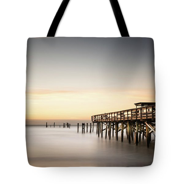 Springmaid Pier Mathew Aftermath Tote Bag