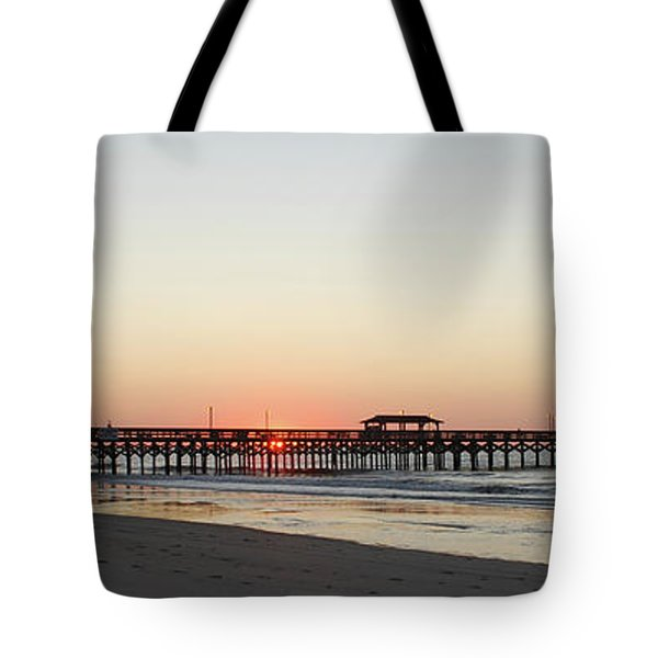Springmaid Pier Sunrise Tote Bag