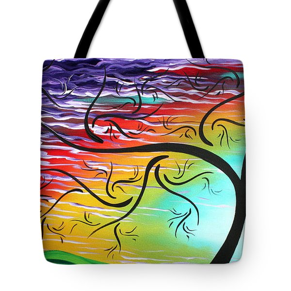 Springs Song By Madart Tote Bag by Megan Duncanson