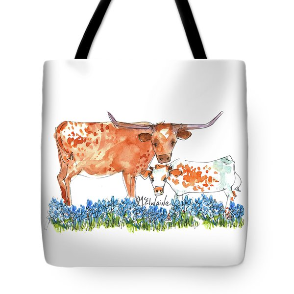 Springs Surprise Watercolor Painting By Kmcelwaine Tote Bag