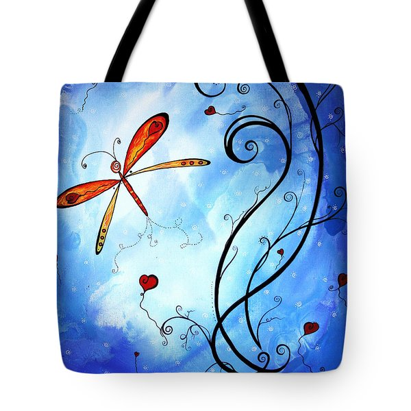 Springs Sweet Song Original Madart Painting Tote Bag by Megan Duncanson