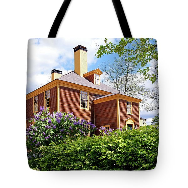 Tote Bag featuring the photograph Springtime At Folsom Tavern by Wayne Marshall Chase