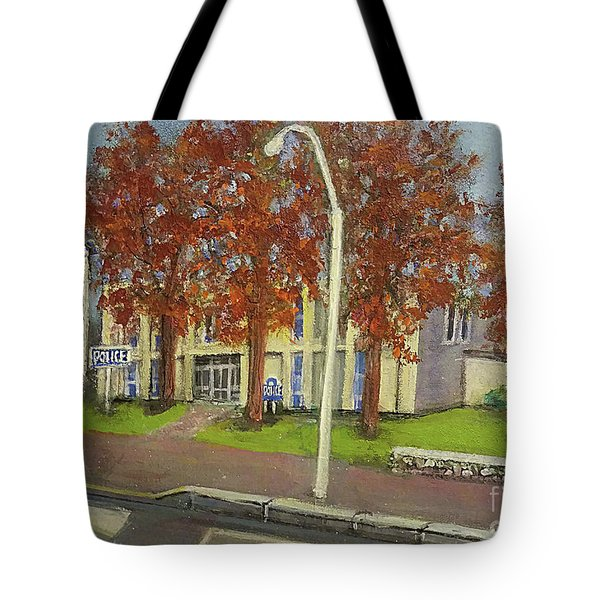 Springtime At Waltham Police Station Tote Bag