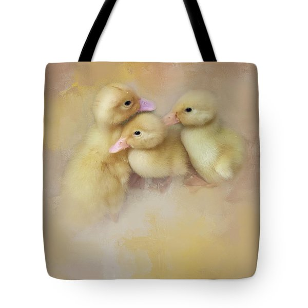 Springtime Babies Tote Bag