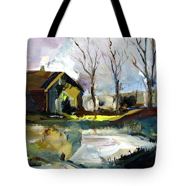 Springtime Barn Tote Bag