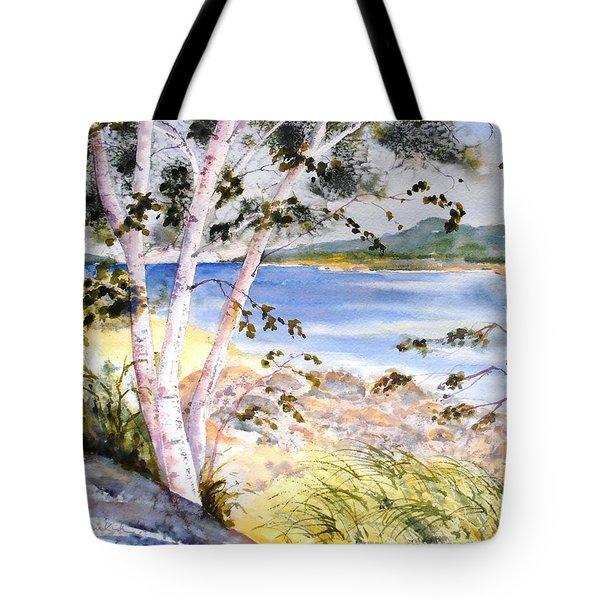 Springtime Birches Tote Bag