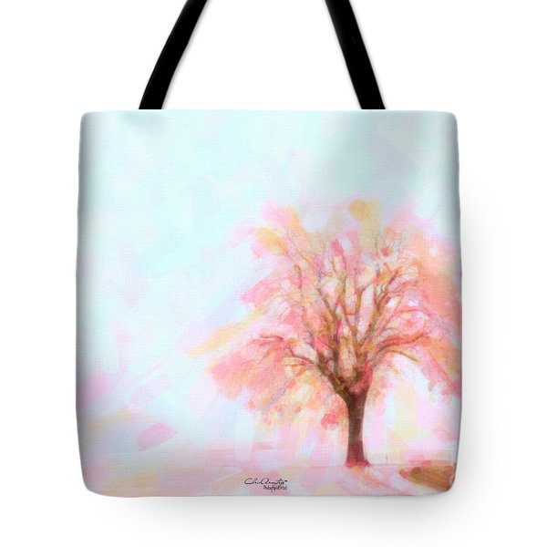 Tote Bag featuring the painting Springtime by Chris Armytage