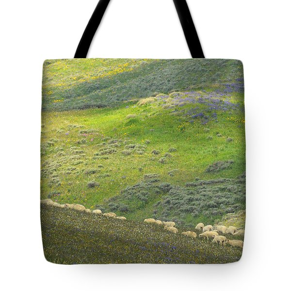 Tote Bag featuring the photograph Springtime Graze.. by Al  Swasey
