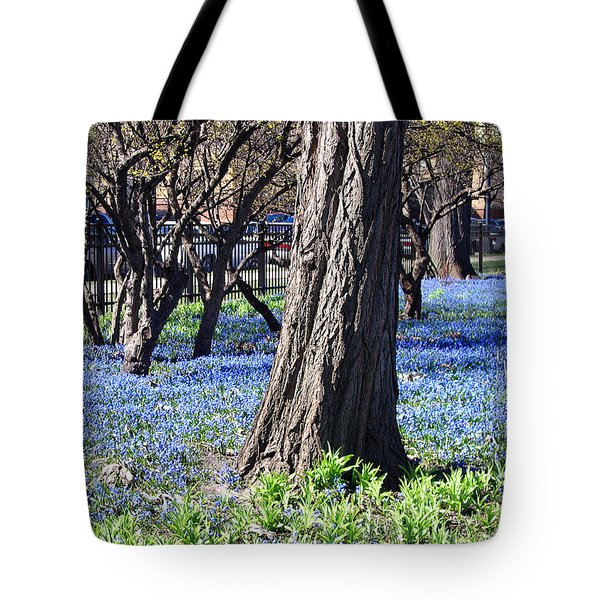Springtime In The City Tote Bag