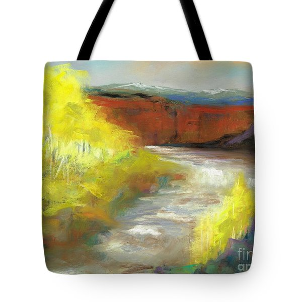 Springtime In The Rockies Tote Bag by Frances Marino