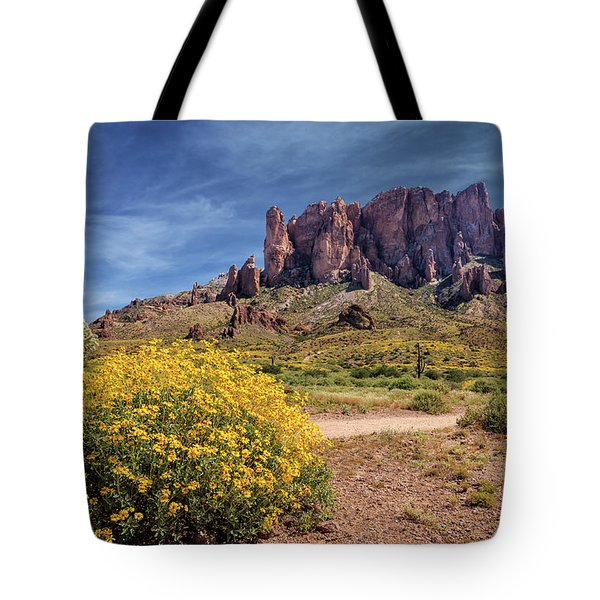 Springtime In The Superstition Mountains Tote Bag