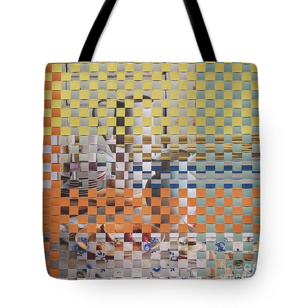 Tote Bag featuring the mixed media Springtime by Jan Bickerton