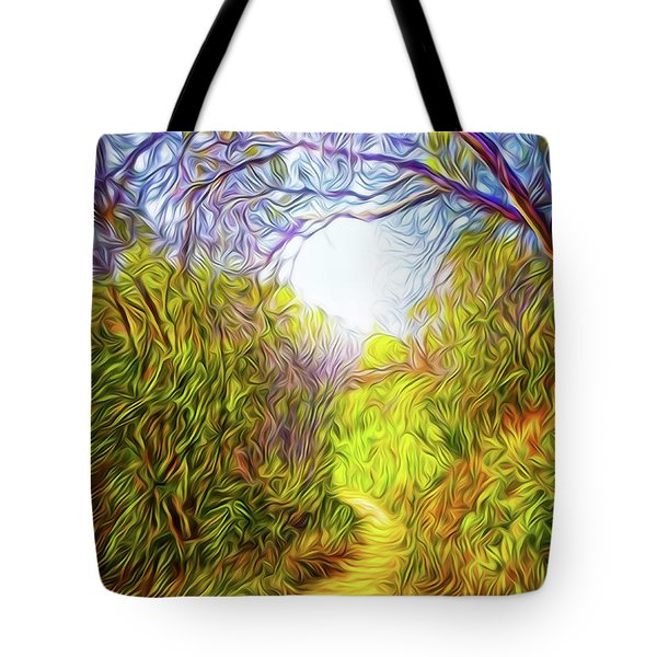 Springtime Pathway Discoveries Tote Bag