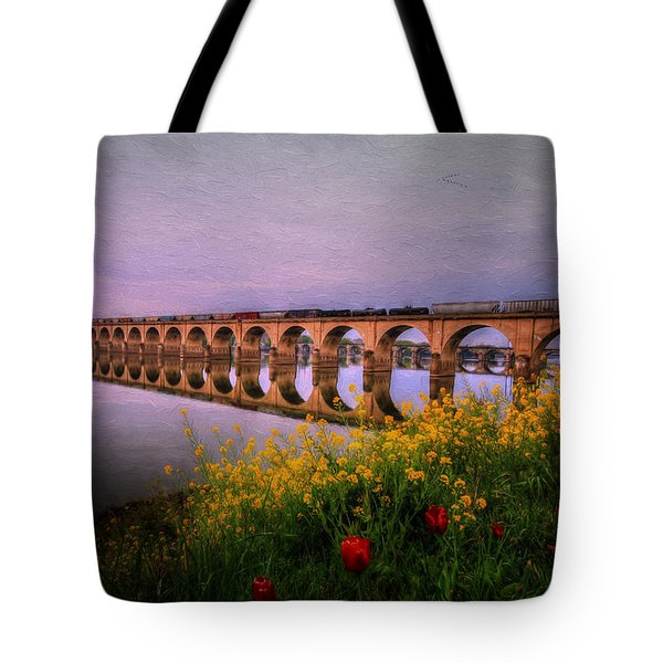 Tote Bag featuring the photograph Springtime Reflections From Shipoke by Shelley Neff