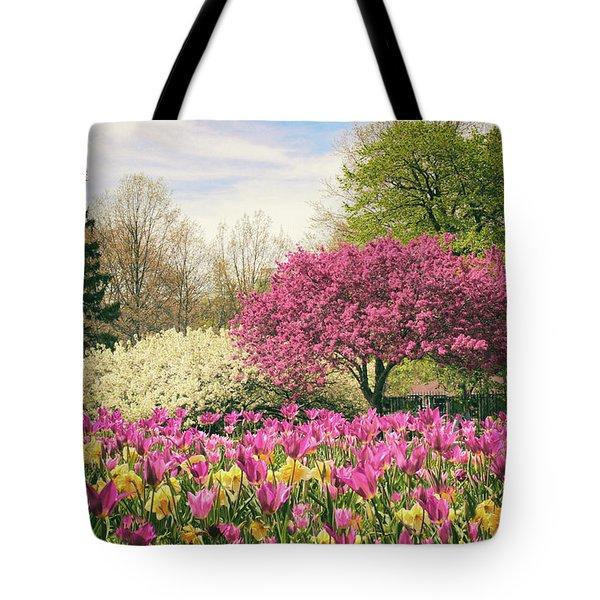 Springtime Tulips Tote Bag by Jessica Jenney