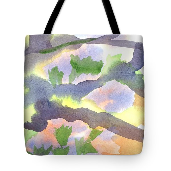 Tote Bag featuring the painting Springtime Wildflower Camouflage  by Kip DeVore