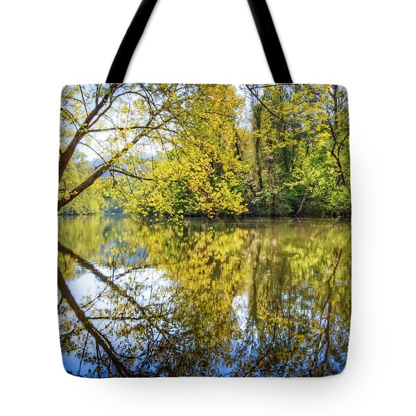 Springtime Yellows And Blues Tote Bag