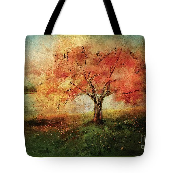 Tote Bag featuring the digital art Sprinkled With Spring by Lois Bryan