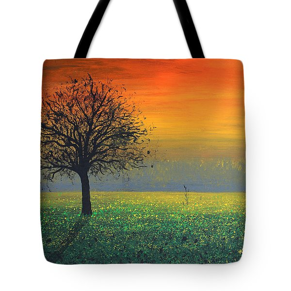 Sprinkles Of The Evening Sun Tote Bag