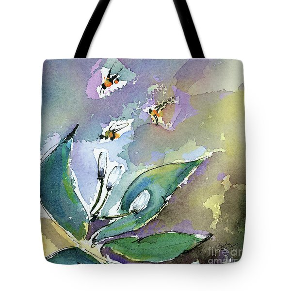 Tote Bag featuring the painting Sprint Fever Watercolor And Ink by Ginette Callaway