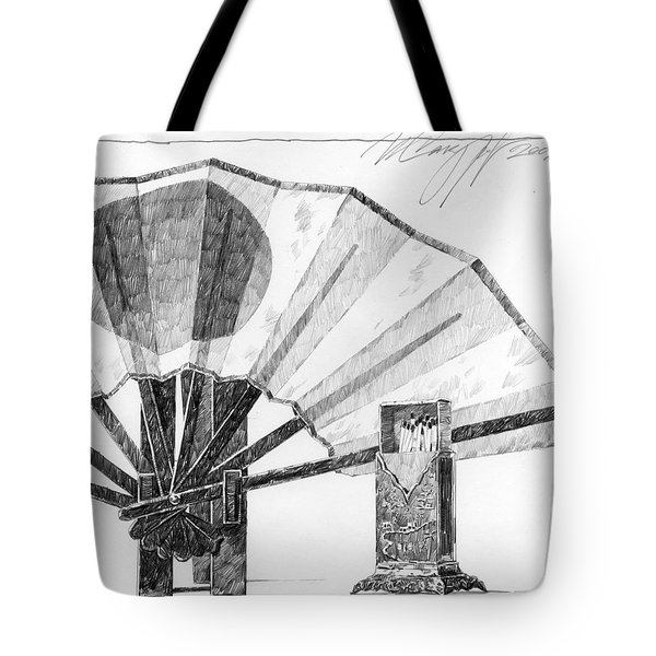 Spirit Of Japan. Fan And Matchbox Tote Bag