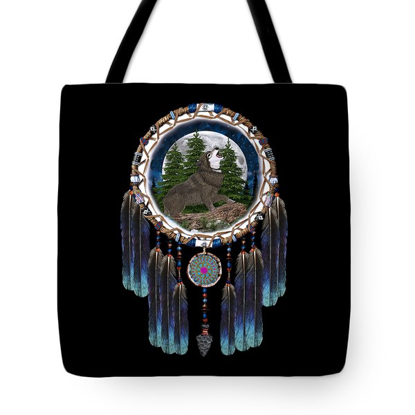 Sprit Of The Wolf Tote Bag by Walter Colvin