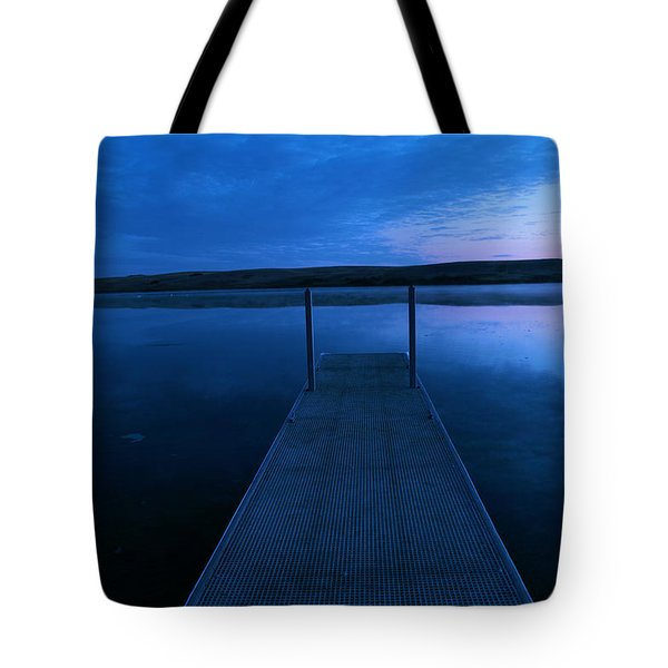 Springbrook Lake At Dawn Tote Bag by Jeff Swan