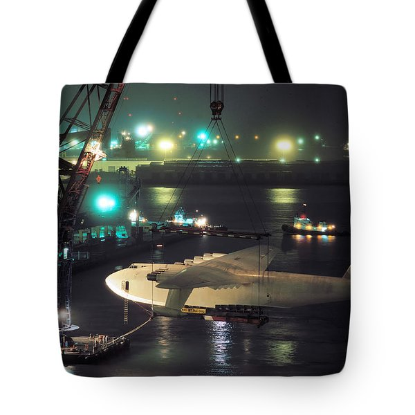 Spruce Goose Hanging From Crane February 10 1982 Tote Bag