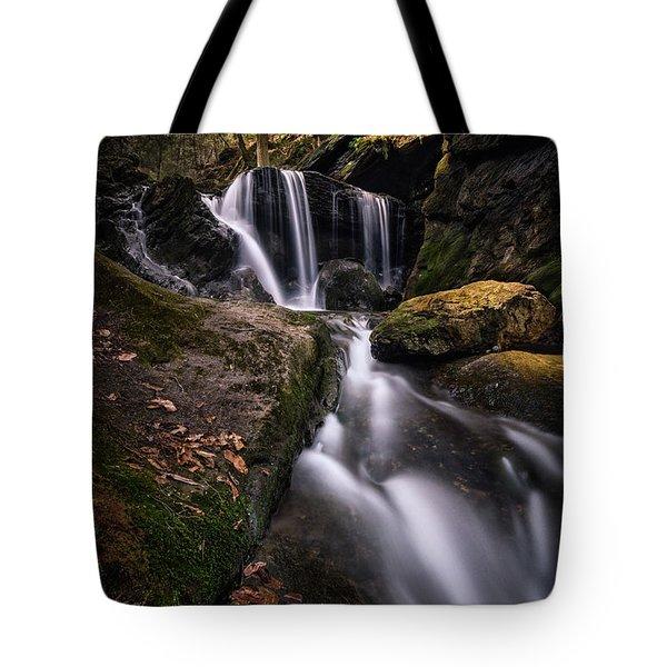 Sprucebrook Falls In Beacon Falls, Ct Tote Bag