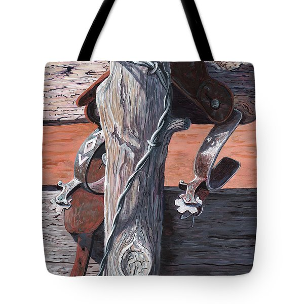 Spurs Needing Boots Tote Bag