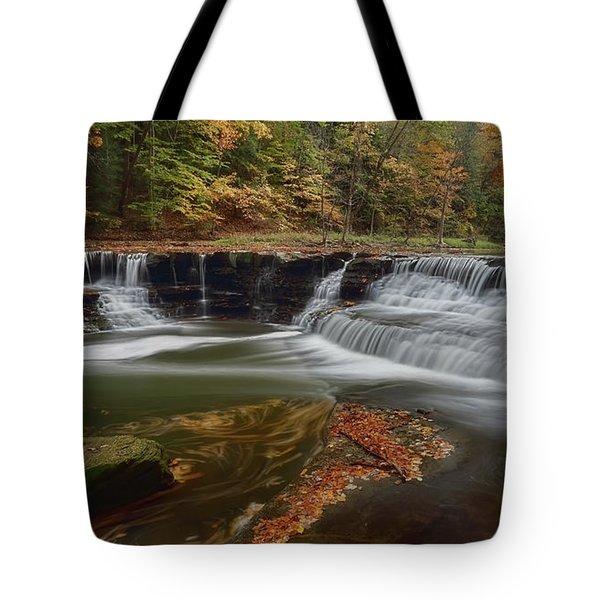 Sqauw Rock Falls Tote Bag