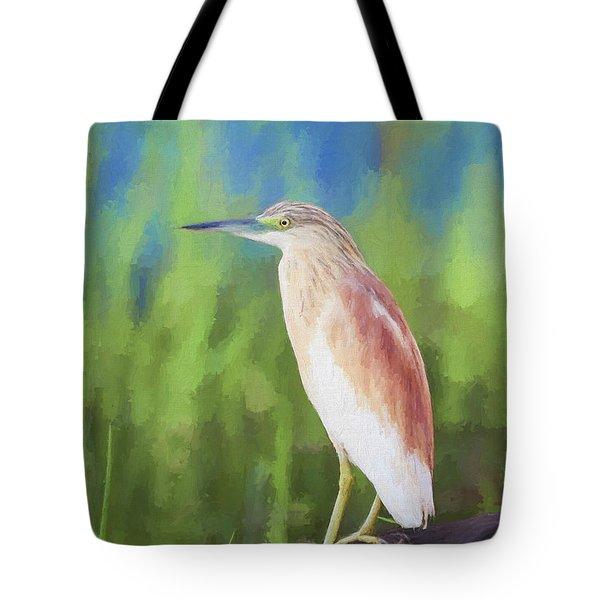 Squacco Heron Ardeola Ralloides Tote Bag by Liz Leyden