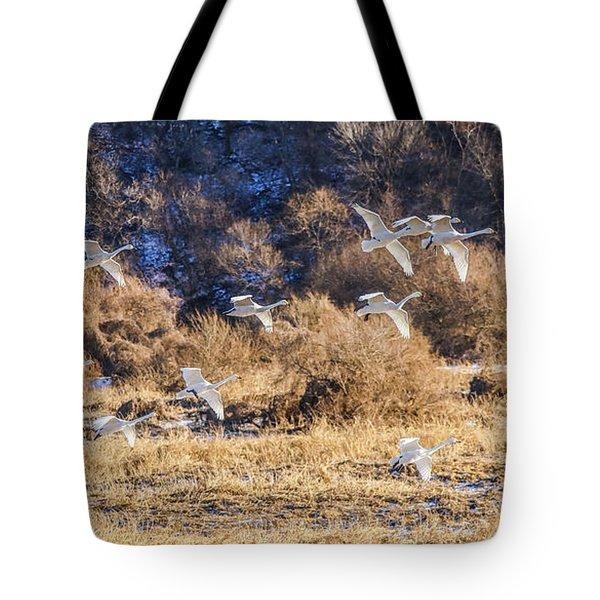 Squad Of Swan Tote Bag