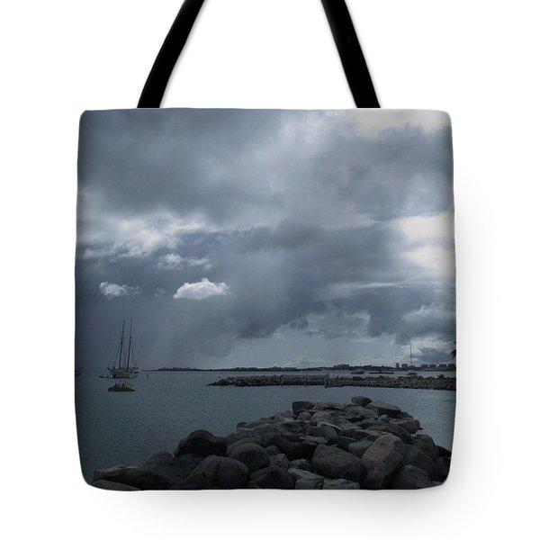 Squall In Simpson Bay St Maarten Tote Bag
