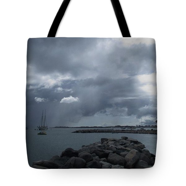 Squall In Simpson Bay St Maarten Tote Bag