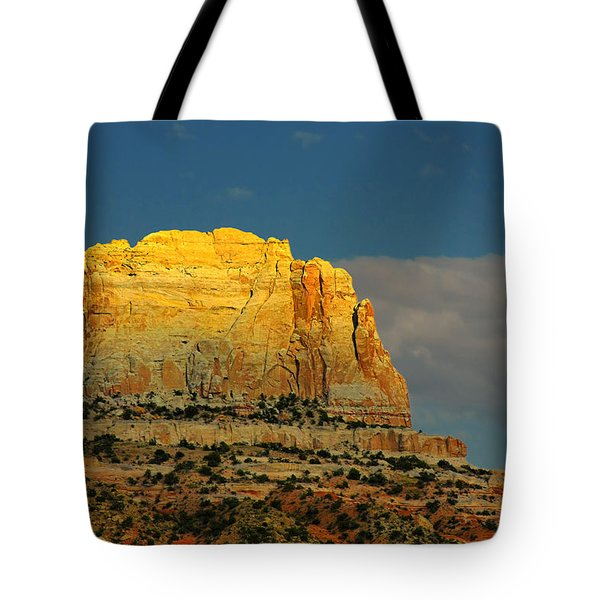 Square Butte - Navajo Nation Near Kaibeto Az Tote Bag by Christine Till