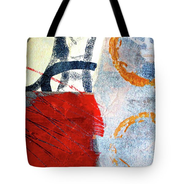 Tote Bag featuring the painting Square Collage No. 3 by Nancy Merkle