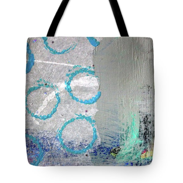 Tote Bag featuring the painting Square Collage No. 6 by Nancy Merkle
