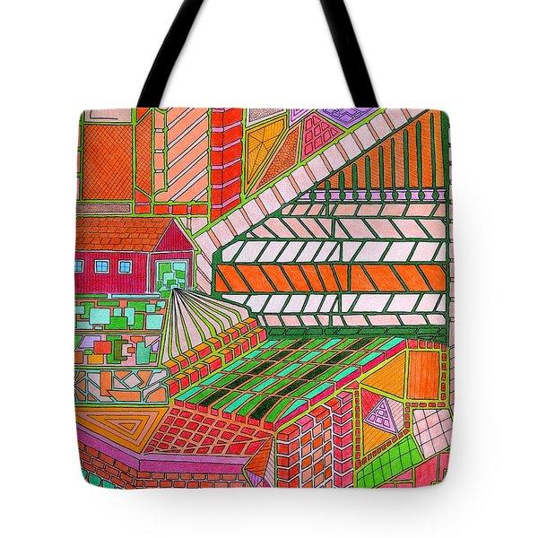Square Dance 2 Tote Bag