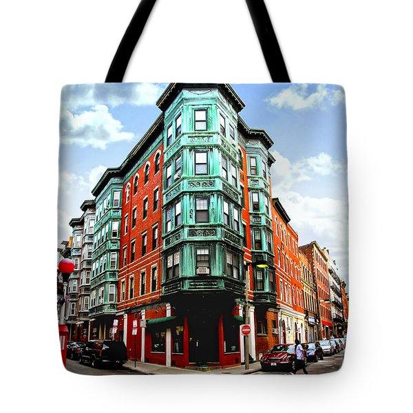 Square In Old Boston Tote Bag