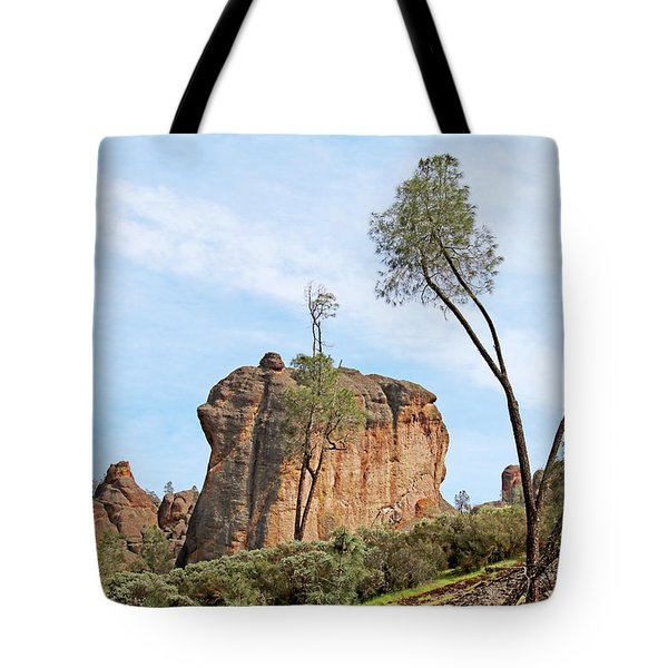 Tote Bag featuring the photograph Square Rock Formation by Art Block Collections