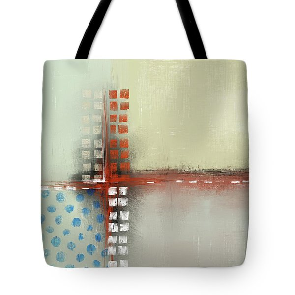 Tote Bag featuring the mixed media Square The Circles by Eduardo Tavares